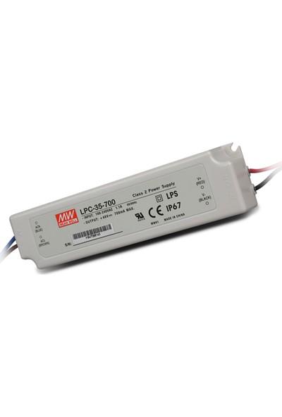 Meanwell LPC 35 700 9 48 Volt 700 mA IP67 Adaptör