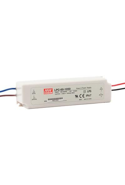 Meanwell LPC 60 1050 9 48 Volt 1050 mA IP67 Adaptör