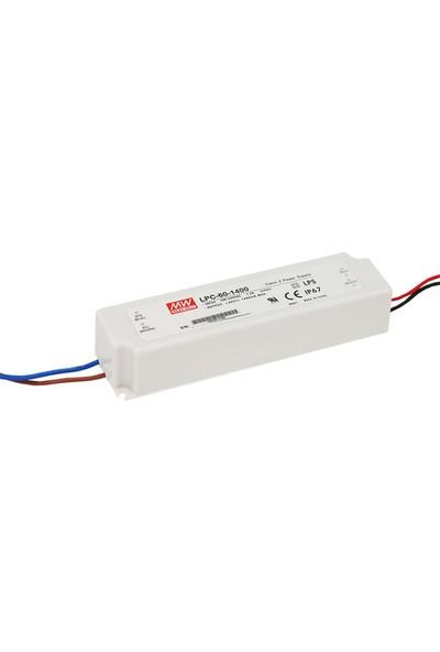 Meanwell LPC 60 1400 9 42 Volt 1400 mA IP67 Adaptör