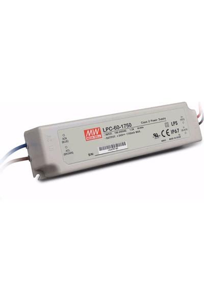 Meanwell LPC 60 1750 9 34 Volt 1750 mA IP67 Adaptör