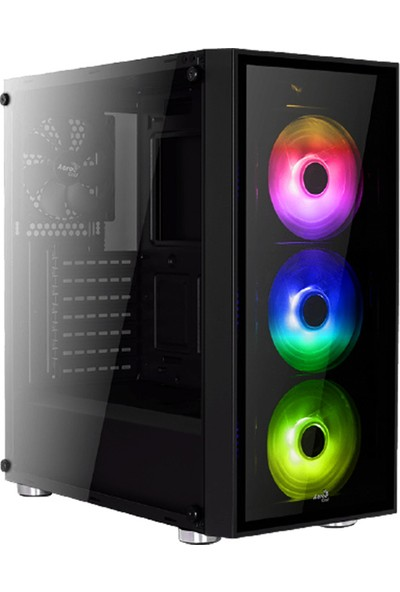 Aerocool Quartz RGB 600W 80+Bronze USB 3.0 RGB Led Fanlı Siyah ATX Oyuncu Kasası (AE-QRTZ-RGB600BR)