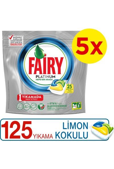 Fairy Platinum 125 Yıkama Bulaşık Makinesi Deterjanı Kapsülü Limon Kokulu