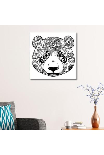 Çerçevelet Pandalı Boyama Tablo 50 x 50 Cm Kanvas Tablo