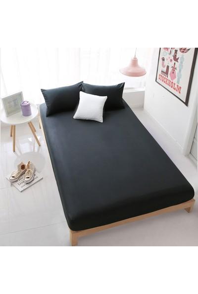 Aqua Home Lastikli Çarşaf Seti 160 x 200 - Siyah