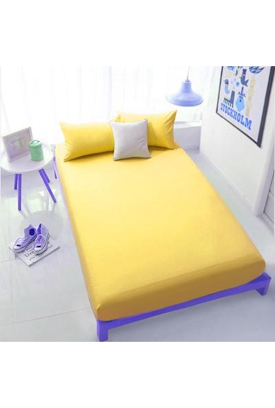 Aqua Home Lastikli Çarşaf Seti 160 x 200 – Kayısı