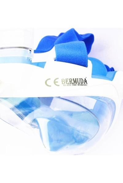 Bermuda Tam Yüz Maske Dalış Maskesi Antifog Snorkel Yüzücü Gözlük Fulface