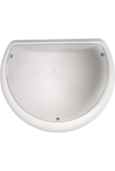 Horoz Aqua Yarımay Led'Li Beyaz Kasa-9W 6400K Beyaz Işık Nemli Yer