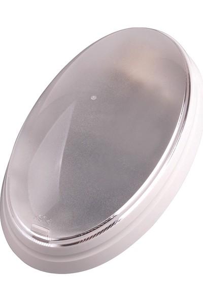 Horoz Tek Duylu Plastik Flue Desenli Beyaz Aplik E27 Duylu