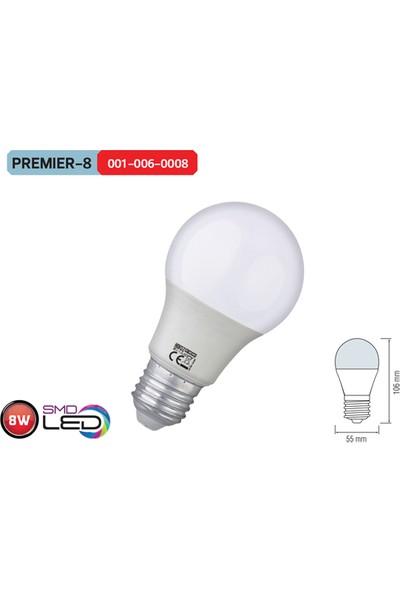 Horoz Premier8 3000K Günışığı 8 Watt Smd Led Ampül
