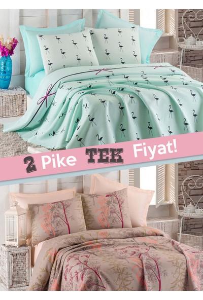 Eponj Home 2li Pike Çift Kişilik Flamingo-Urla Mint Bej