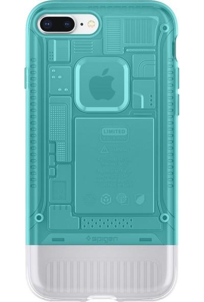 Spigen Apple iPhone 8 Plus Kılıf Classic C1 (10.Yıl Özel) Bondi Blue - 055CS24407