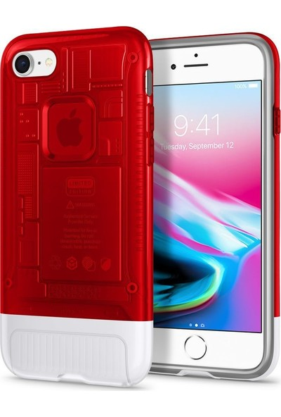 Spigen Apple iPhone 8 Kılıf Classic C1 (10.Yıl Özel) Ruby - 054CS24402