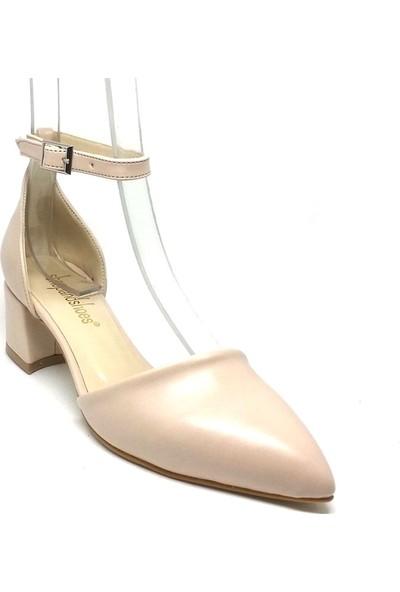 Shop And Shoes 155-701 Kadın Ayakkabı Ten