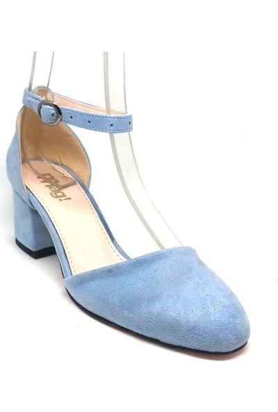 Shop And Shoes 173-314 Kadın Ayakkabı Mavi Süet