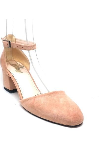 Shop And Shoes 173-314 Kadın Ayakkabı Pudra Süet