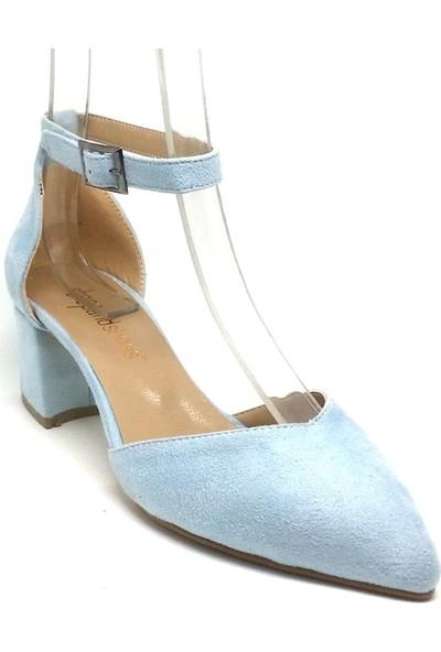 Shop And Shoes 172-160 Kadın Ayakkabı Mavi Süet