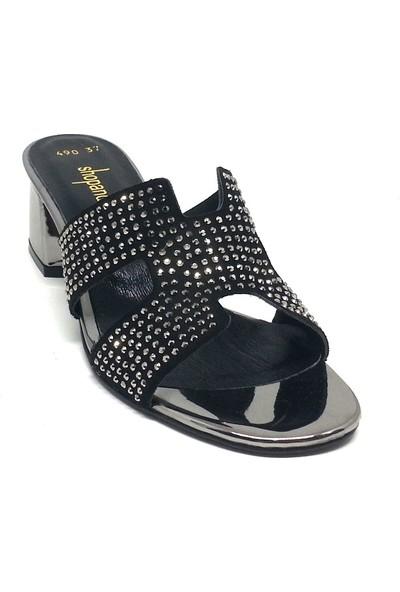Shop And Shoes 122-490 Kadın Terlik Platin