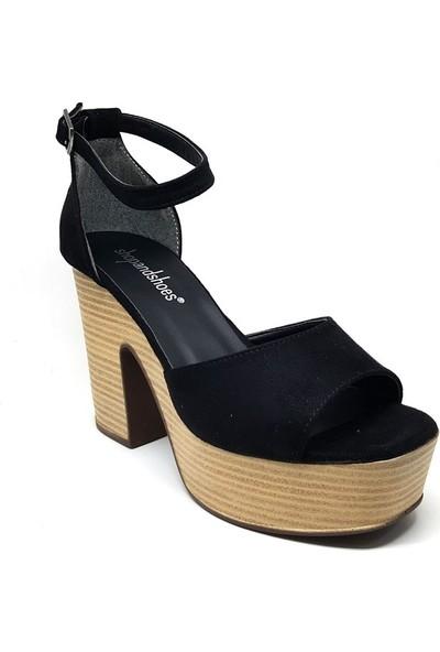 Shop And Shoes 171-800 Kadın Ayakkabı Siyah Süet