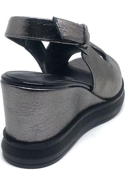 Shop And Shoes 001-743411 Kadın Ayakkabı Platin