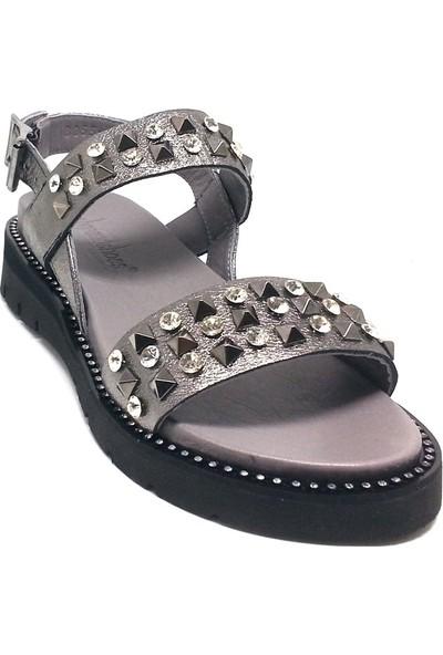 Shop And Shoes 212-8055-2 Kadın Sandalet Platin