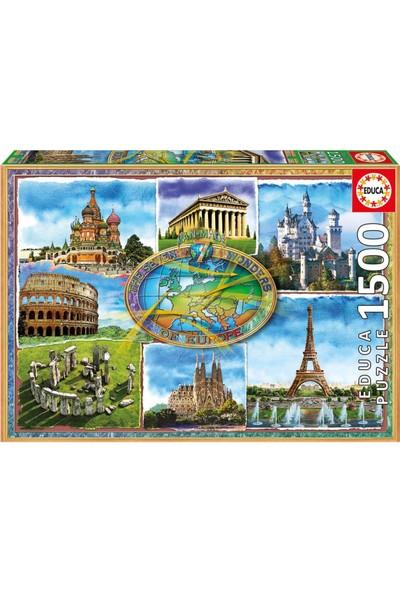 Educa Puzzle Seven Wonders Of Europe 1500 Parça