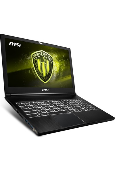 "MSI WS63 8SK(VPRO)-012TR Intel Core i7 8850H 32GB 1TB + 256GB SSD P3200 Windows 10 Pro 15.6"" FHD Workstation Taşınabilir Bilgisayar"