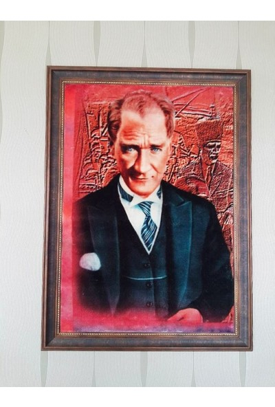 Popvitrin 50 cm X 70 cm Tablo Halı - Atatürk - Çerçeveli