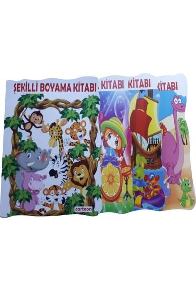 Cartoon Network Eğlenceli 4 Adet Şekilli Boyama Kitabı Oyuncak Boyama 48 Sayfa