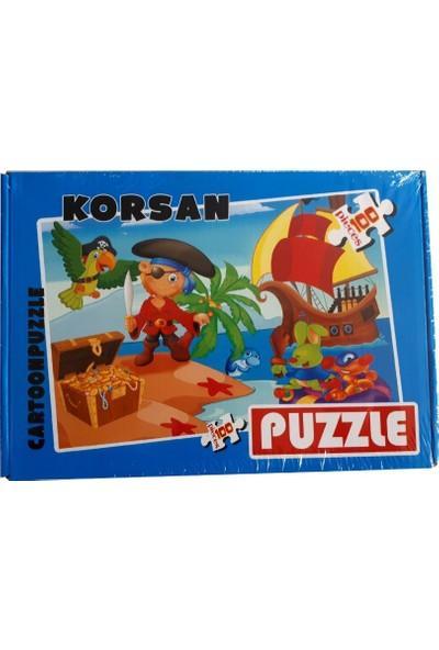 Cartoon Eğlenceli 100 Parça Kutulu Puzzle