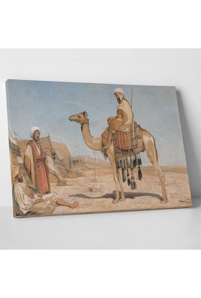 John Frederick Lewis Bedevi Araplar Kanvas Tablo 30 x 20 cm