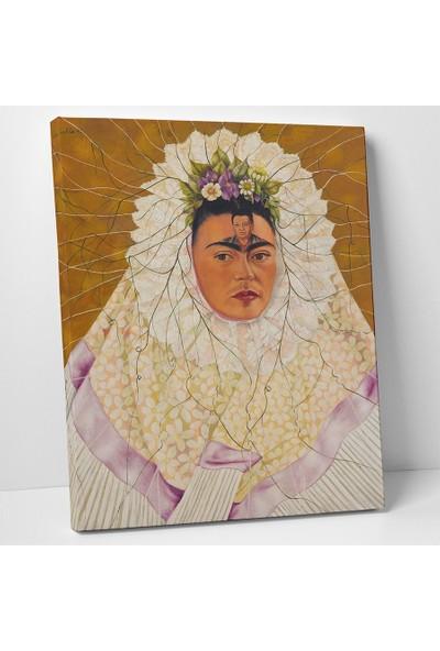 Frida Kahlo Tehuana ile Otoportre Kanvas Tablo 30 x 40 cm