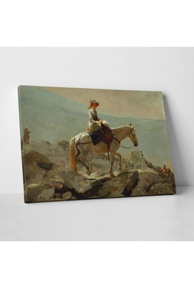 Winslow Homer Winslow Homer Atlı Kadın Kanvas Tablo 30 x 20 cm