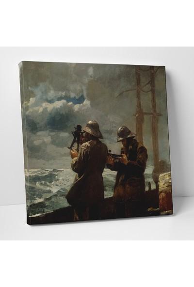 Winslow Homer Eight Bells Kanvas Tablo 25 x 25 cm