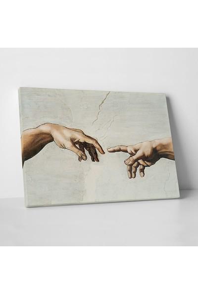 Michelangelo Adem'in Eli Kanvas Tablo 100 x 150 cm