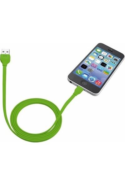 Trust 20130 Urbanrevolt iPhone/iPad/iPod Sarj Kablosu 1M- Yeşil