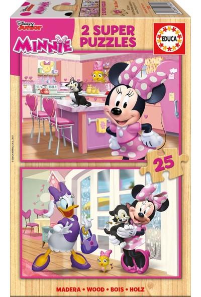 Educa Puzzle Minnie Happy Helpers X 25 Parça Ahşap