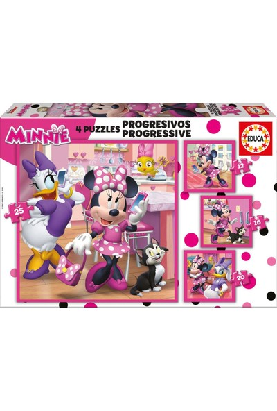 Educa Puzzle Minnie Happy Helpers 12-16-20-25 Parça