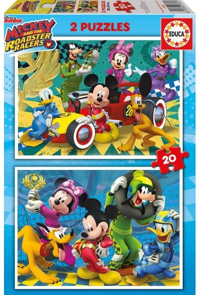 Educa Puzzle Mickey Roadster Racers 2 X 20 Parça