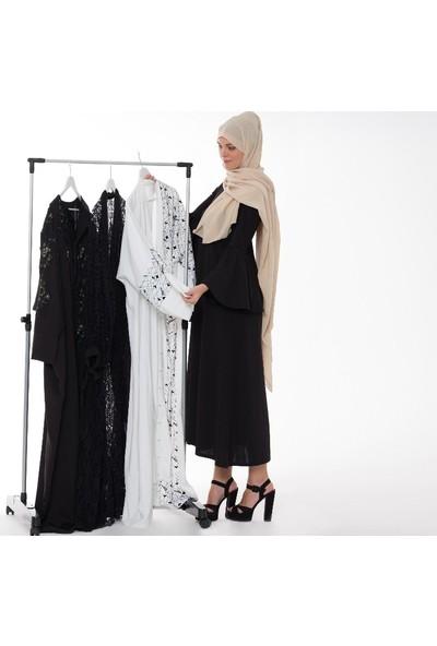 Biricik Tekerlekli Tekli Alüminyum Katlanabilir Elbise Askılığı Konfeksiyon Askısı Askılık