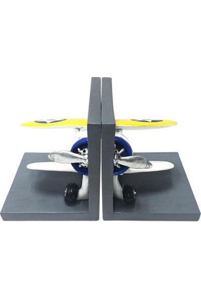 THK Design Uçak Rezin Kitap Tutucu