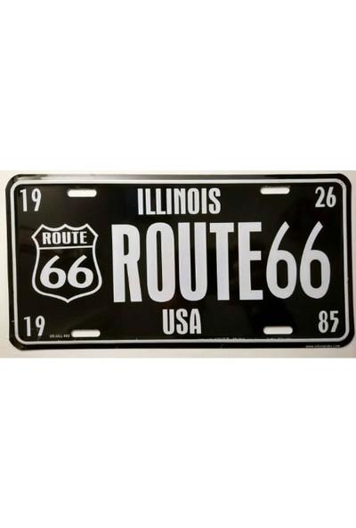 Sibiro Dekoratif Plaka Illınois Route 66
