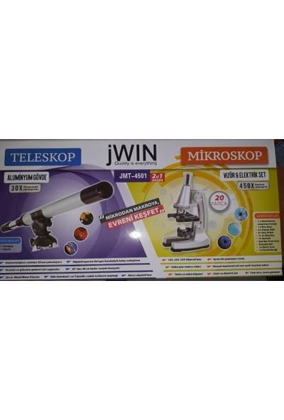 Jwin JMTt-4501 Mikroskop Eğitim Seti + Teleskop