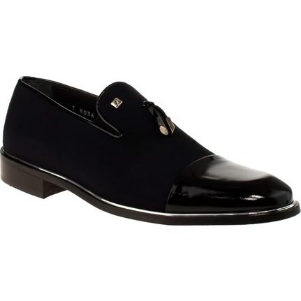 Fosco 8036 8y Bağsiz Klasik Siyah Erkek Ayakkabı