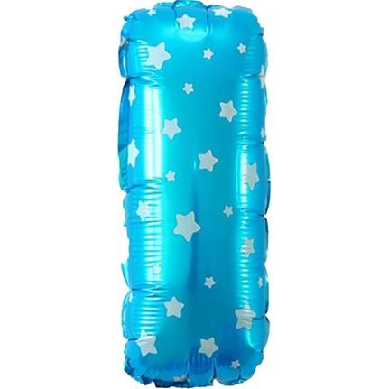 f072d0c3ede50 PartiBulutu I Harf Mavi Yıldız Folyo Balon 70 cm Fiyatı