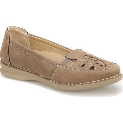Polaris 5 Nokta 81.111090NZ Kum Rengi Kadın Deri Ayakkabı