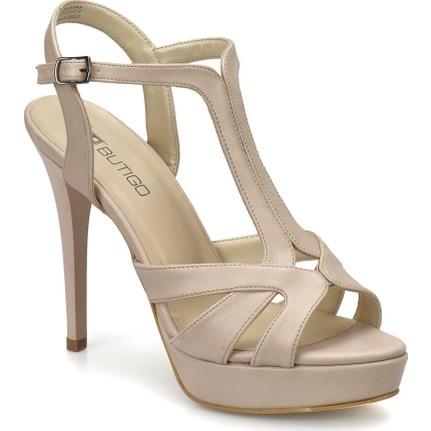 Butigo S837 Pudra Kadın Topuklu Ayakkabı