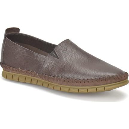 Flogart 1055 M 6674 Kahverengi Erkek Deri Modern Ayakkabı