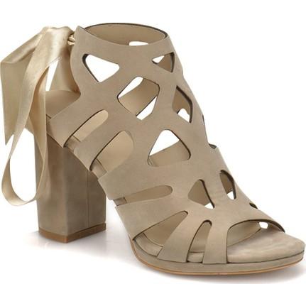 Butigo DS18045 Bej Kadın Topuklu Ayakkabı