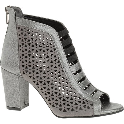 Derigo 4018065 Platin Rengi Kadın Topuklu Ayakkabı