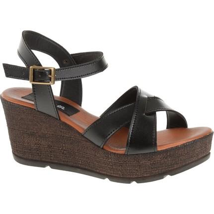 Derigo 52525 Siyah Kadın Sandalet